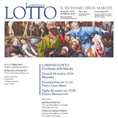Invito inaugurazione mostra Lorenzo Lotto 19 Ottobre