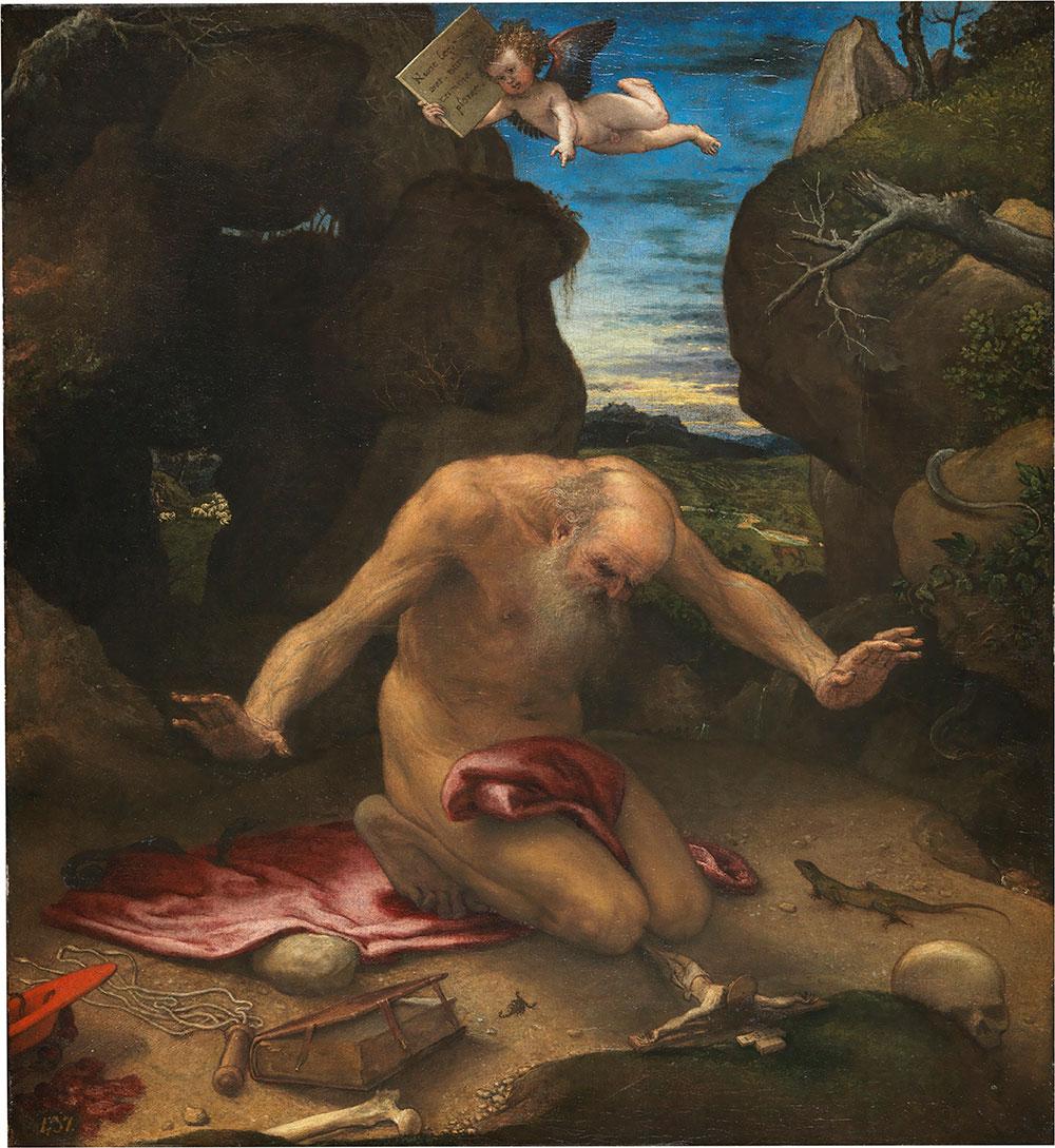 Lorenzo Lotto San Girolamo penitento 1540-1546 Olio su tela, 99 x 90 cm Madrid, Museo Nacional del Prado