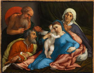 Lorenzo Lotto Sacra Famiglia con Sant'Anna e San Gerolamo, 1534 Olio su tela, 67,2 x 85 cm Firenze, Gallerie degli Uffizi