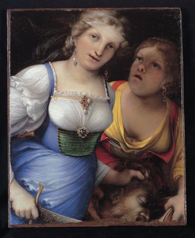 Lorenzo Lotto Giuditta con la testa di Oloferne, 1512 Olio su tavola. 28,8 x 23,4 cm Roma, Collezione BNL Gruppo BNP Paribas